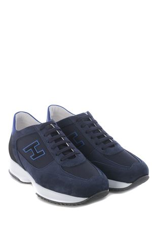 Sneakers Hogan Interactive in nabuk e nylon HOGAN | 5032245 | HXM00N0Q101PDU647N