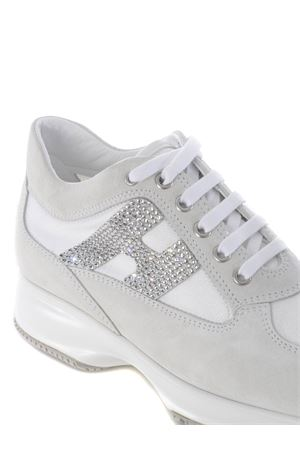 Sneakers Hogan Interactive H strass in camoscio e nylon HOGAN | 5032245 | HXW00N02011FIKB001