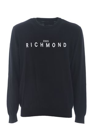 John Richmond Sirell cotton knit pullover JOHN RICHMOND | 7 | RMP21108MABLACK