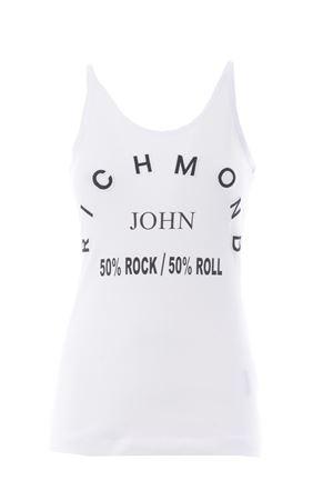 John Richmond Calester cotton tank top JOHN RICHMOND | 1381554220 | RWP21126CNWHITE