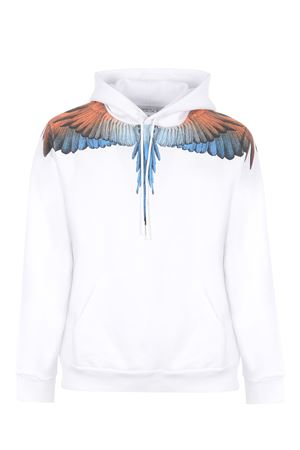 Felpa Marcelo Burlon Wings Regular Hoodie in cotone MARCELO BURLON | 10000005 | CMBB007R21FLE0010120