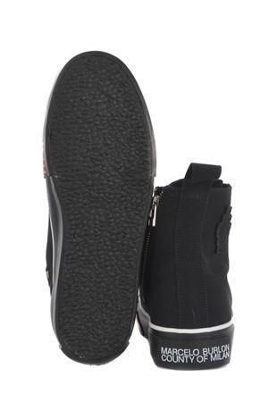 Sneakers Marcelo Burlon Tape High Vulcanized in cotone MARCELO BURLON | 5032245 | CMIA085S21FAB0011020