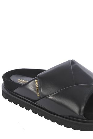 Moncler Fantine leather slippers MONCLER | 12 | 4L710-40019ND-999