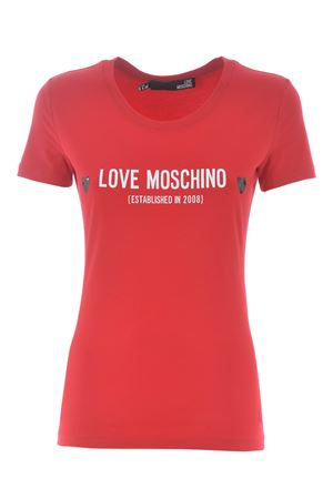 Love Moschino T-shirt in stretch cotton MOSCHINO LOVE | 8 | W4H1904E1951-P05