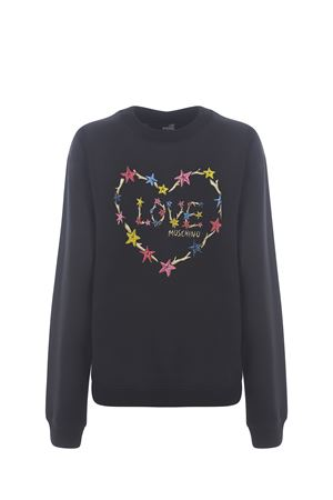 Moschino Love Starfish Heart stretch cotton sweatshirt MOSCHINO LOVE | 10000005 | W630222E2246-C74