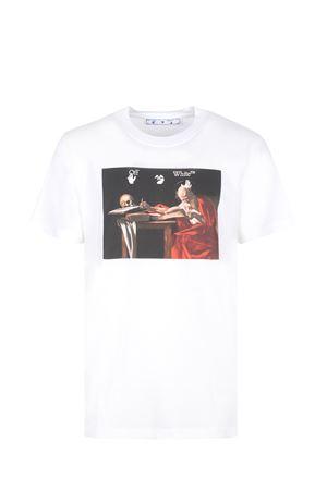 T-shirt OFF-White Caravaggio in cotone OFF WHITE | 8 | OMAA027R21JER0040125