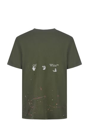 OFF-White Vintage Paint cotton T-shirt OFF WHITE | 8 | OMAA027S21JER0025701
