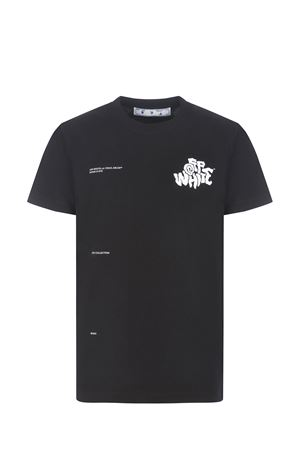 T-shirt OFF-White Off Blur Logo in cotone OFF WHITE   8   OMAA027S21JER0141001