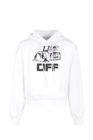 Felpa OFF-White World Caterpillar in cotone OFF WHITE | 10000005 | OMBB037R21FLE0090110
