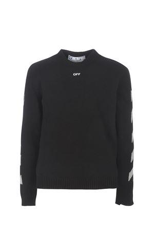 Maglia tricot OFF-White Diag Knit in cotone OFF WHITE | 7 | OMHE023R21KNI0011041