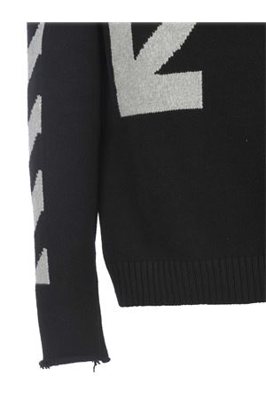 OFF-White  Diag Knit cotton tricot sweater OFF WHITE | 7 | OMHE023R21KNI0011041