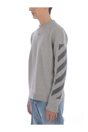OFF-White  Diag Knit cotton tricot sweater OFF WHITE | 7 | OMHE023S21KNI0010807