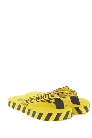Infradito OFF-White Industrial Belt Flip Flop in gomma OFF WHITE | 2092362282 | OMIC002R21MAT0021810