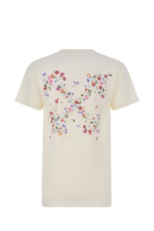 OFF-White Arrow Flowers cotton T-shirt  OFF WHITE | 8 | OWAA049R21JER0036184