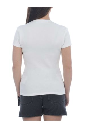 OFF-White Ribbed basic stretch cotton T-shirt OFF WHITE | 8 | OWAA065S21JER0010100