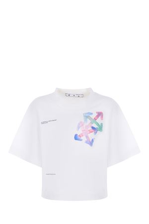 OFF-White Watercolor Arrow cotton T-shirt OFF WHITE | 8 | OWAA090S21JER0010184