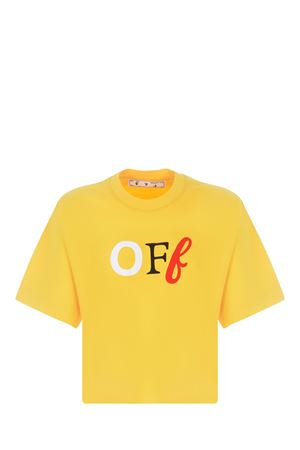 OFF-White OFF Typo Mix cotton t-shirt OFF WHITE | 8 | OWAA090S21JER0021884