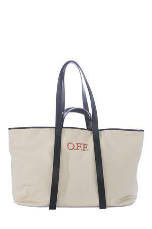 Borsa OFF-White Commercial Tote in tela di cotone OFF WHITE | 31 | OWNA094R21FAB0026125
