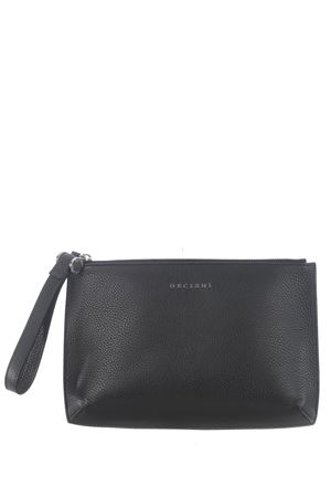 Orciani leather clutch bag ORCIANI | 62 | SU0103MIC-NERO