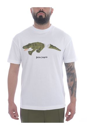 T-shirt Palm Angelscroco in cotone PALM ANGELS   8   PMAA001R21JER0020155