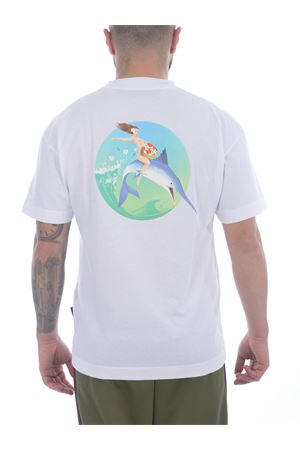 T-shirt Palm Angels Fishing Club in cotone PALM ANGELS | 8 | PMAA001S21JER0010144