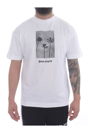 T-shirt Palm Angels Palms Boulevard in cotone PALM ANGELS | 8 | PMAA001S21JER0060110