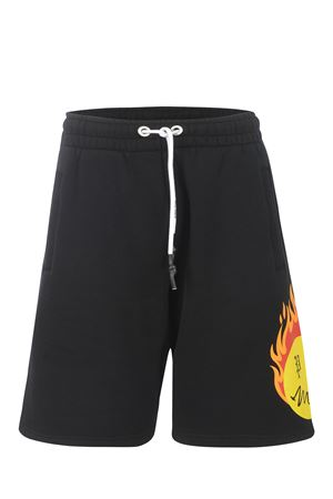 Palm Angels Burning head cotton shorts PALM ANGELS | 30 | PMCI010R21FLE0011018