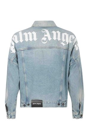 Giacca Palm Angels Logo over in denim PALM ANGELS | 3 | PMYE006R21DEN0014001