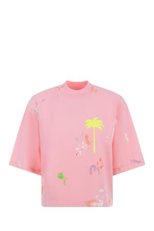 Palm Angels Painted cropped cotton T-shirt PALM ANGELS | 8 | PWAA020S21JER0043465