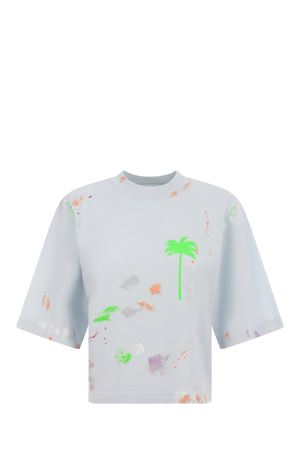 Palm Angels Painted cropped cotton T-shirt PALM ANGELS | 8 | PWAA020S21JER0044470