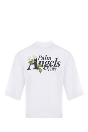 Palm Angels Daisy Logo Cropped cotton T-shirt PALM ANGELS | 8 | PWAA020S21JER0060110