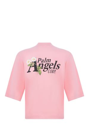 Palm Angels Daisy Logo Cropped cotton T-shirt PALM ANGELS | 8 | PWAA020S21JER0063410