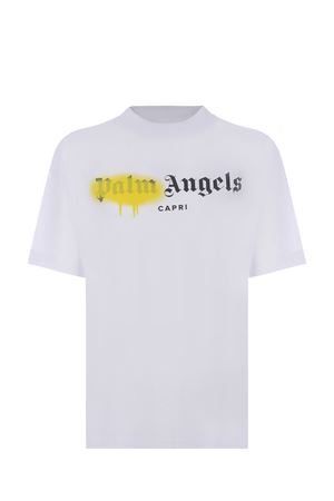 T-shirt Palm Angels Capri sprayed in cotone PALM ANGELS | 8 | PWAA039S21JER0100118