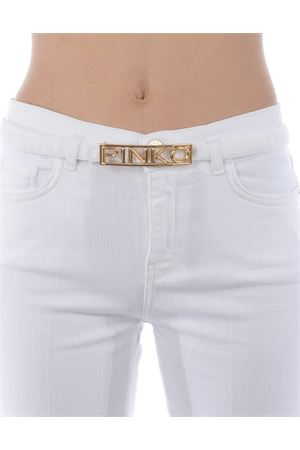 Pinko Fannie 15 flare-fit cropped jeans in comfort cotton bull PINKO | 9 | 1J10KU-Y62NZ08