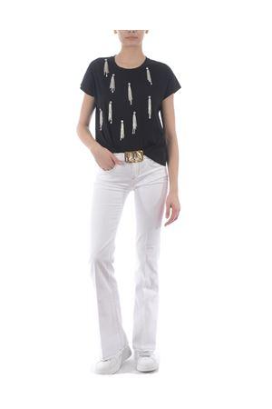 Pinko Feliz 3 flare-fit trousers in comfort cotton bull PINKO | 9 | 1J10KZ-Y62NZ08