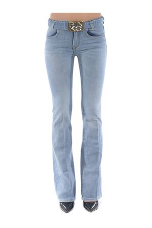 Pinko Feliz 2 Flare flare-fit trousers in comfort stretch denim PINKO | 24 | 1J10NS-Y751G14