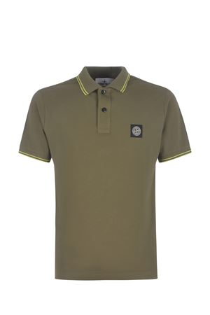Stone Island stretch cotton pique polo shirt STONE ISLAND | 2 | 22S18V3058