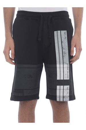 Stone Island cotton fleece shorts STONE ISLAND | 30 | 66596V0029