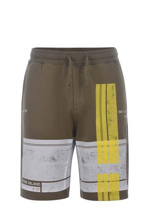 Stone Island cotton fleece shorts STONE ISLAND | 30 | 66596V0058