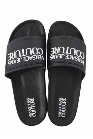 Versace Jeans Couture gummy mold slippers in eco-leather VERSACE JEANS | 5032249 | E0YWASQ271353-899