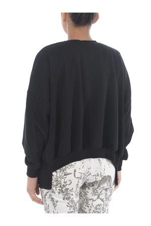 Asymmetrical cardigan 8PM laverda in cotton fleece 8PM | 850887746 | 01K63009