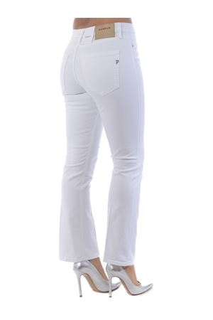 Dondup charlotte jeans in White stretch denim. DONDUP | 24 | DP457BS0009PTD-000
