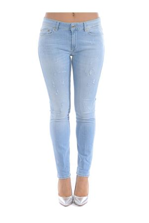 Dondup monroe jeans in stone wash stretch denim.  DONDUP | 24 | P692DS0268AB7-800