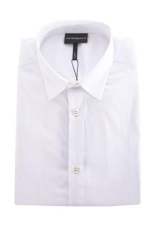 Emporio Armani shirt in white stretch poplin EMPORIO ARMANI | 6 | 3H1C101N6RZ-0100