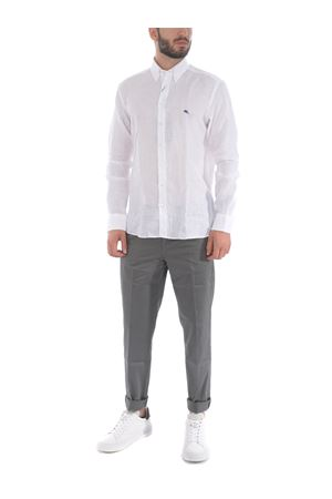 Etro shirt in white linen ETRO | 6 | 163656701-990