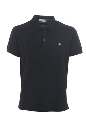 Etro polo shirt in black cotton pique ETRO | 2 | 1Y1419240-1