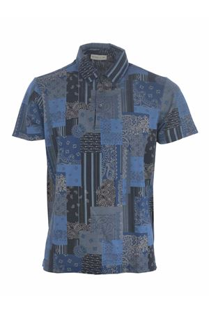 Etro polo shirt in light cotton pique with all-over patchwork pattern  ETRO | 2 | 1Y8004070-200