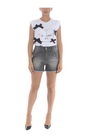 Le Volière shorts in stretch denim  LE VOLIERE | 30 | P049BBLACK