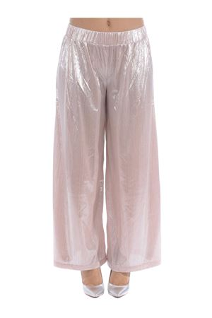 Le Volière palazzo trousers in pink laminated jersey LE VOLIERE | 9 | P086PPPINK