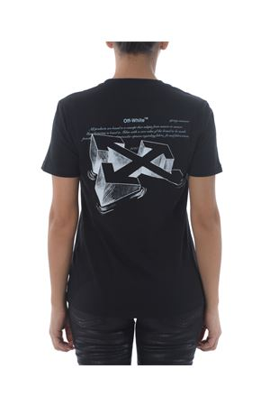 T-shirt Off White arrow sketch casual OFF WHITE   8   OWAA049R20B070431001